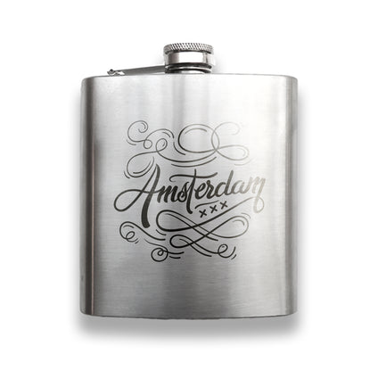 Engraving a flask