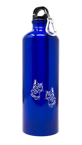 Aluminium drinkfles 750 ml blauw