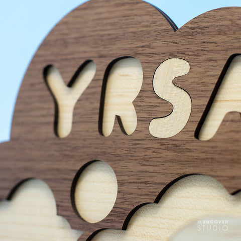 Wooden puzzle small with own name