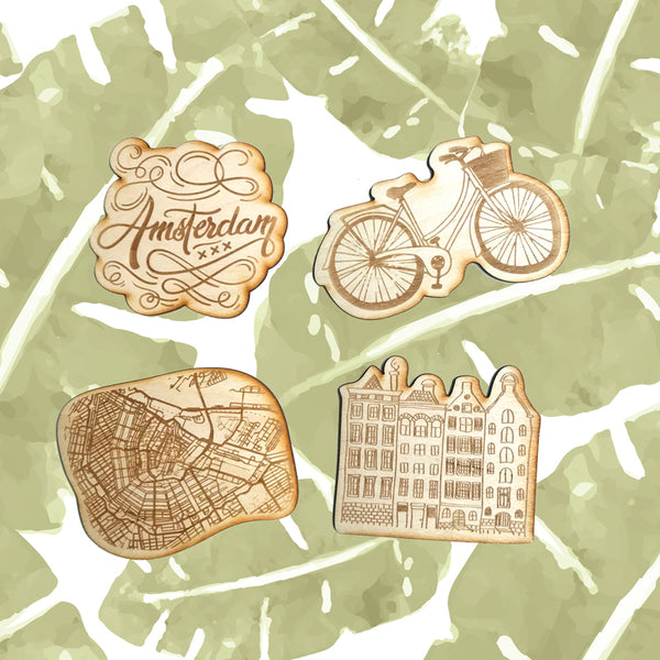 Engraving wooden coasters | Amsterdam