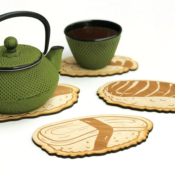 Engraving wooden coasters | Sushi