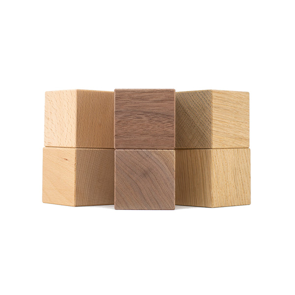 Wooden blocks walnut