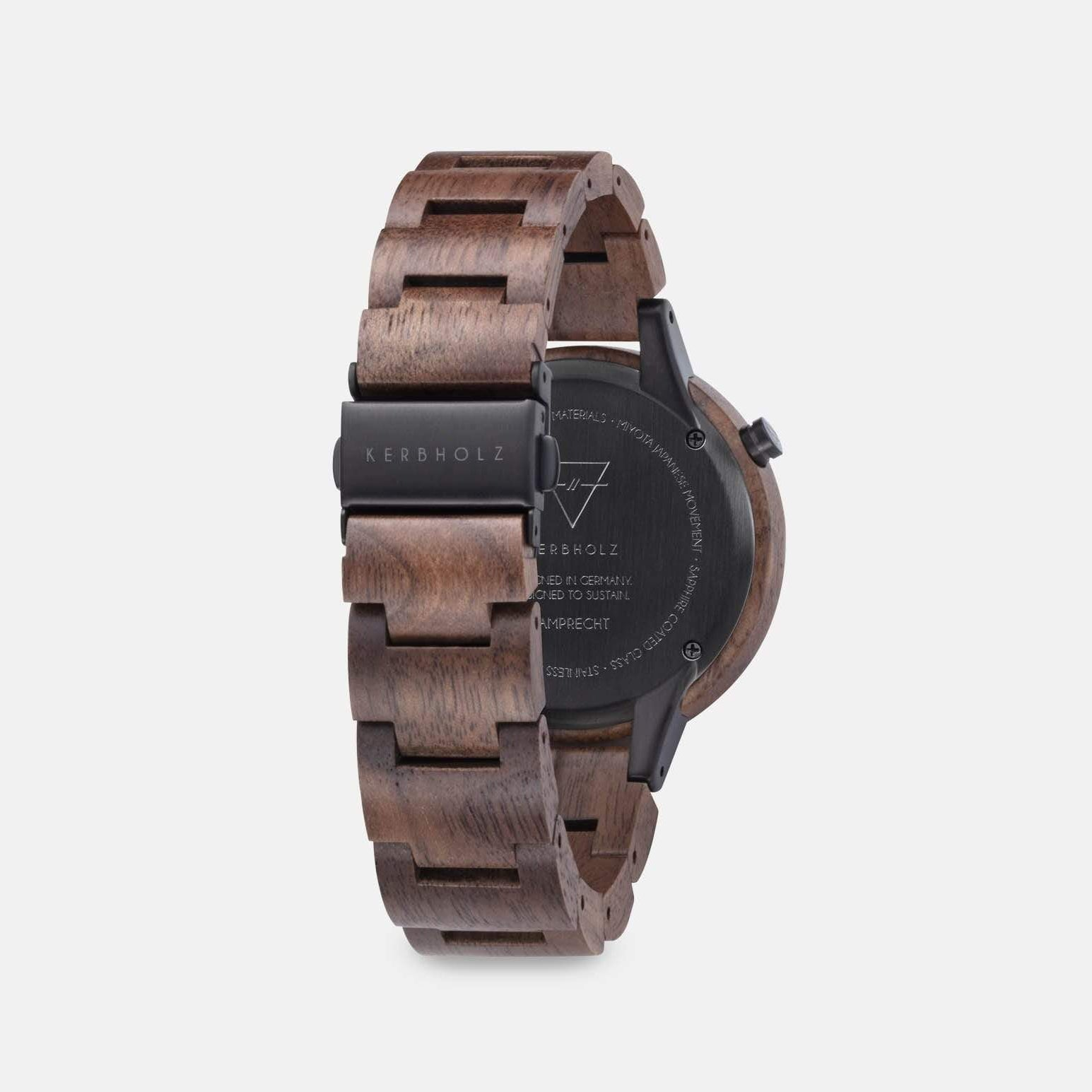 Kerbholz horloge | Lamprecht Walnut Gold