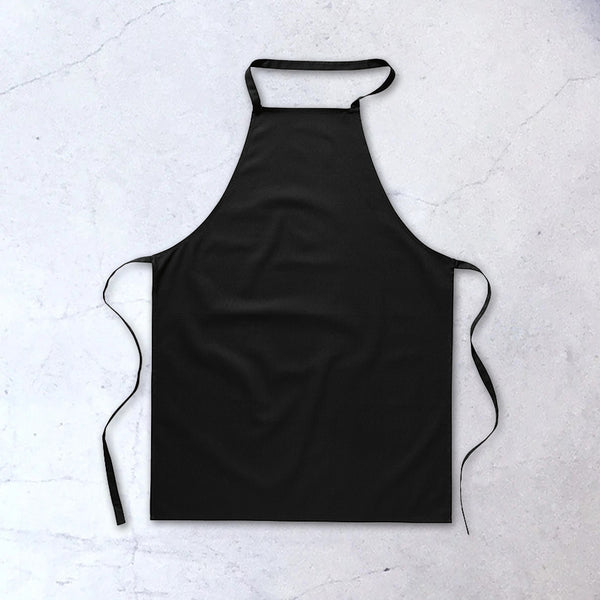 Kitchen apron black cotton