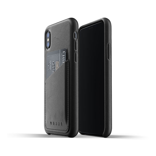Mujjo wallet case iPhone X/XS black