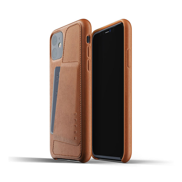 Mujjo wallet case iPhone XR olive