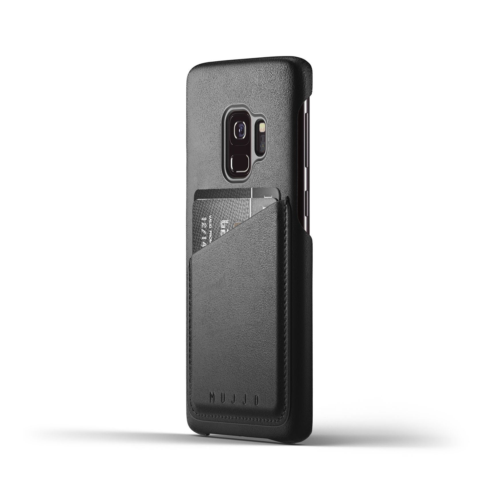 Mujjo wallet case Samsung Galaxy S9 black