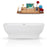 "67"" Streamline Solid Surface Resin K-87-67FSWHSS-FM Soaking Freestanding Tub and Tray with Internal Drain"