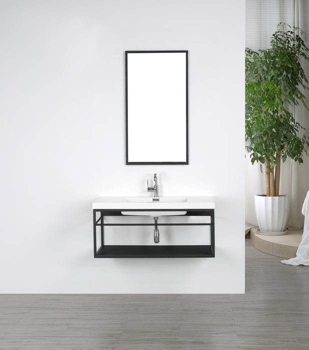 40'' Streamline K1940-140-M40 Floating Vanity With Mirror