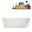 "59"" Streamline M-2241-59FSWH-FM Soaking Freestanding Tub and tray With Internal Drain"