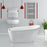 "59"" Streamline N-280-59FSWH-FM Soaking Freestanding Tub and Tray With Internal Drain"