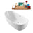 "66"" StreamlineN-581-66FSWH-FM Soaking Freestanding Tub and Tray With Internal Drain"
