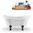 "62"" Streamline N1020BL Clawfoot Tub and Tray With Internal Drain"
