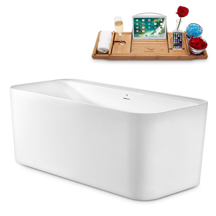 "59"" Streamline N2100CH Freestanding Tub and Tray With Internal Drain"