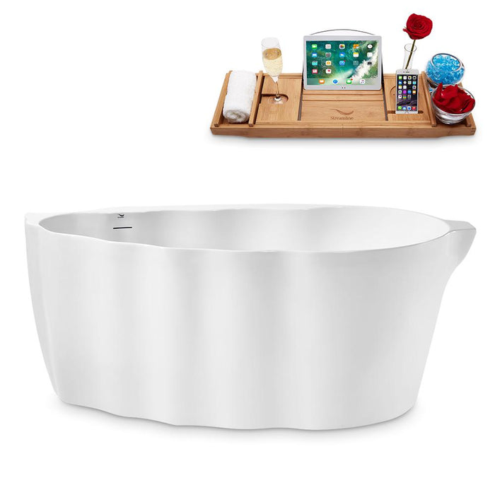 "59"" Streamline N2160BNK Freestanding Tub and Tray With Internal Drain"