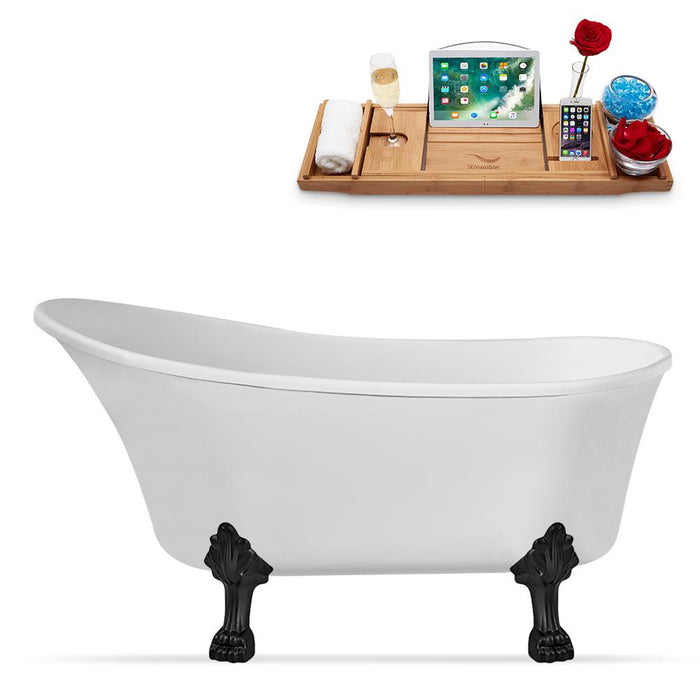 "59"" Streamline N347BL-IN-BL Clawfoot Tub and Tray With Internal Drain"
