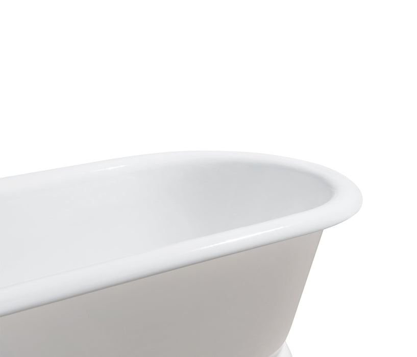 "60"" Cast Iron R5081CH Soaking freestanding Tub and Tray with External Drain"