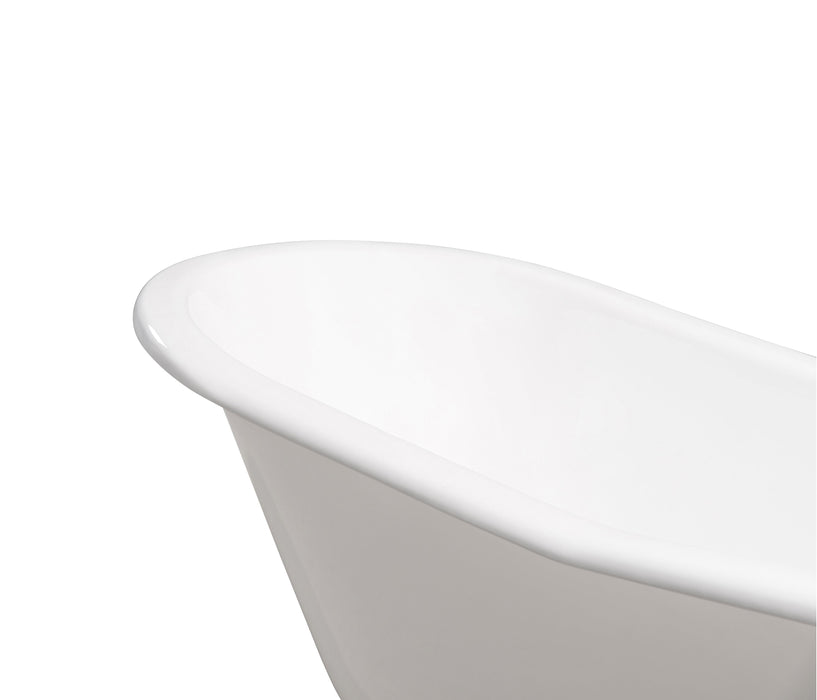 "67"" Cast Iron R5220CH-CH Soaking Clawfoot Tub and Tray with External Drain"