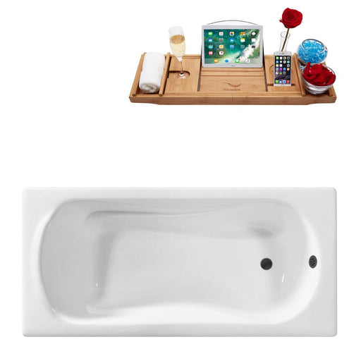 "59"" Streamline Cast Iron R5620BL Drop In Bathtub with External Drain"