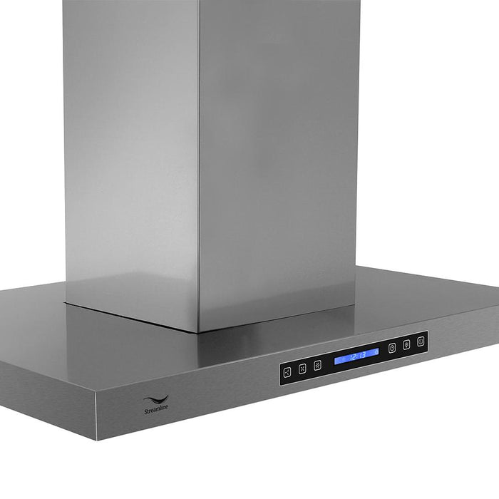 36'' Streamline S-201MSH-36 Convertible Island Kitchen Range Hood