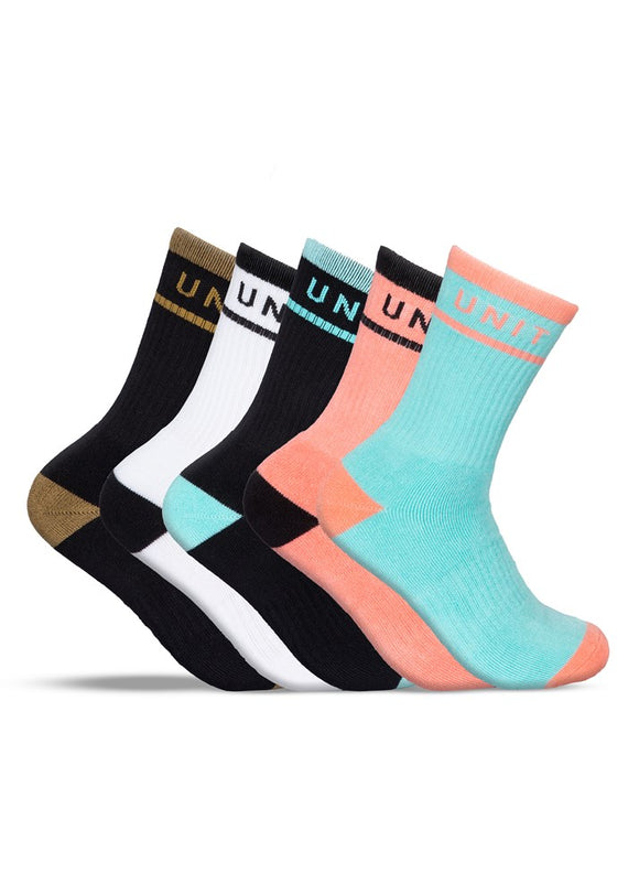 Unit Ladies Bamboo Socks - Hi Lux - 5 Pack - Staple