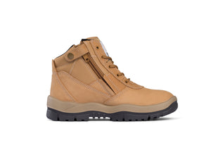 Mongrel - Wheat Low Lace Up Zip Sided Safety Boot