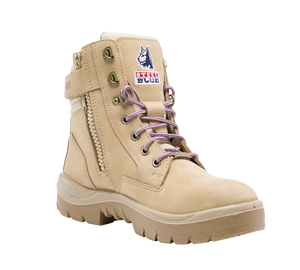 Southern Cross - Ladies Zip Lace Up Safety Boot P/R Sole