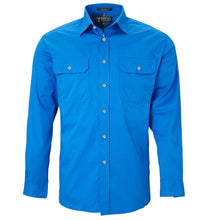 Load image into Gallery viewer, Pilbara Shirt Mens Open Front Long Sleeve Shirt