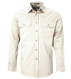 PILBARA COTTON MENS WORK SHIRT, COMPARE TO RB SELLARS RM WILLIAMS