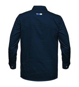 Mens Australian Cotton Long Sleeve Closed Front Shirt