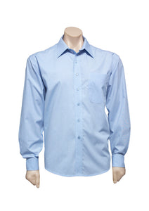 Long Sleeve Mens Micro Check Shirt