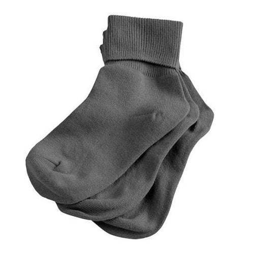 3Pk Fold Over Socks