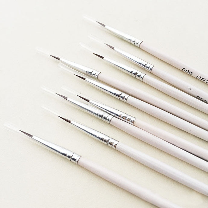 6Pcs Nylon Set Fine Hand Paint Brushes