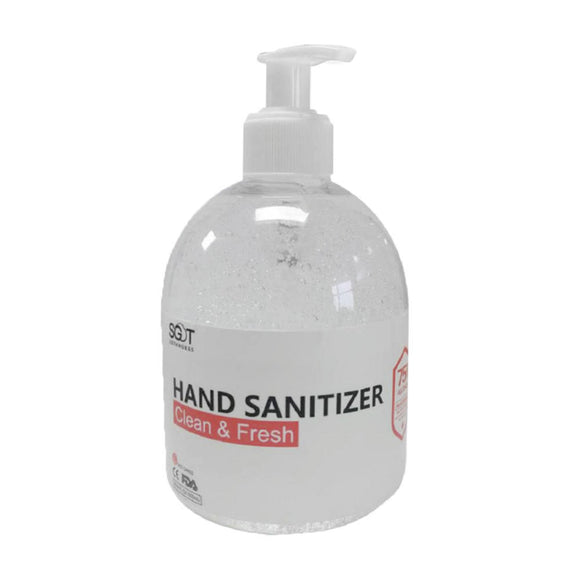 12 Bottles * SGT Instant Hand Sanitizer 75% Ethanol with Press Cap (500ml)