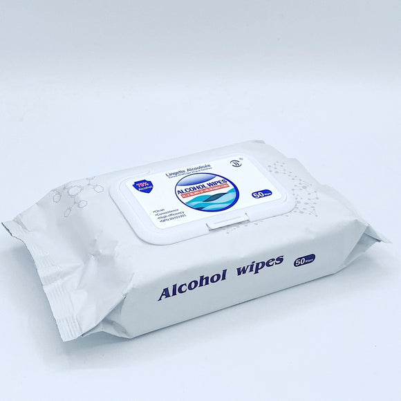 4 x 50pcs/box 75% Alcohol Disinfection Wet Wipes (Canada NPN registered)