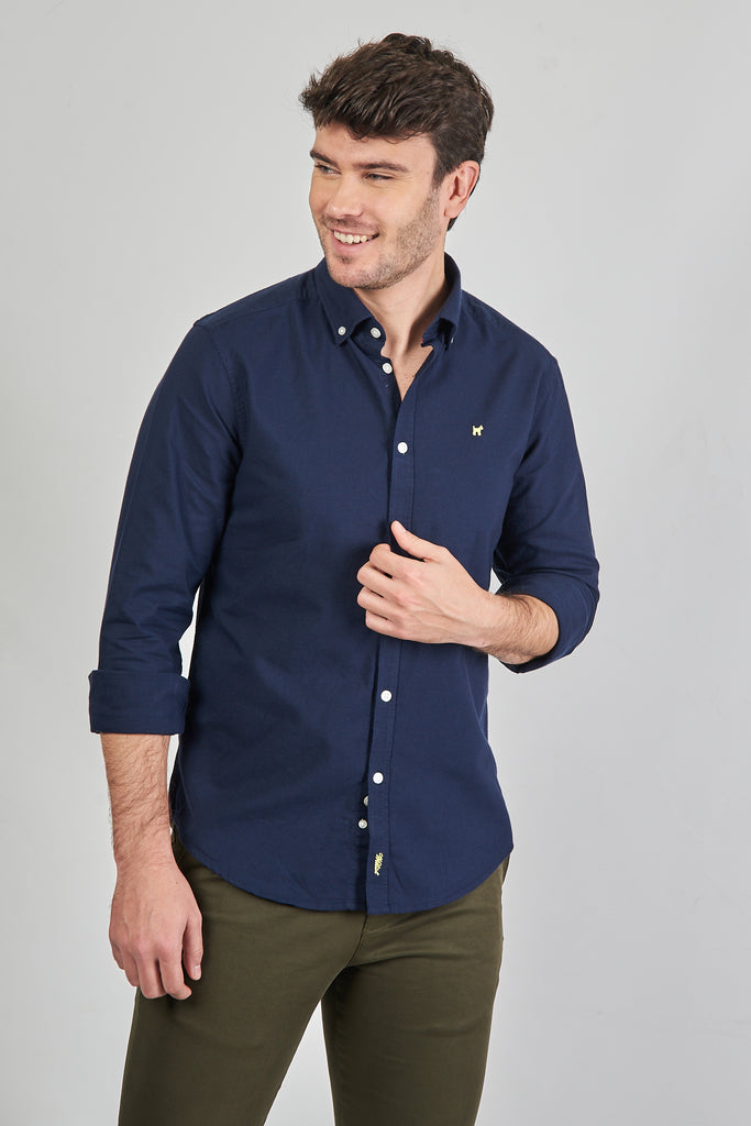 Camisa Lisa Oxford Marino