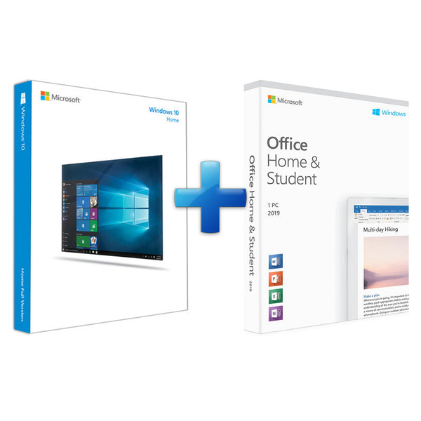 Windows 10 Home + Microsoft Office Home & Student 2019
