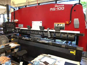 110 Ton Amada RG-100 CNC Press Brake, Stock 1138