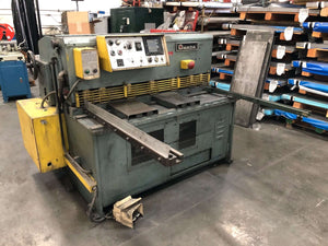 4' x 10ga Amada S-1232 Mechanical Shear, Stock 1001