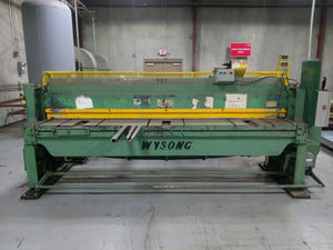 10' x 10ga Wysong 1010RD Mechanical Shear, Stock 1113