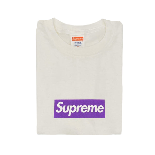 Supreme Purple Box Logo Tee - Size M