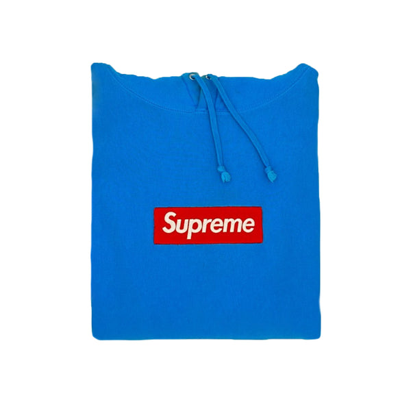 Supreme Teal Box Logo Pullover - Size S