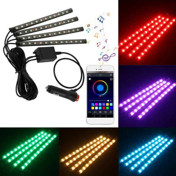 5050 RGB LED Car Strip Lights