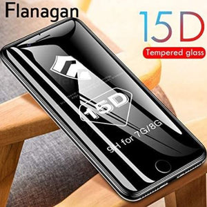 15D Protective Glass on the For iPhone 6, 6s,7,8 plus, XR,X, XS,11,11pro and 11 Pro Max.