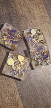 Load image into Gallery viewer, When all else fails go Mouse... Royal Purple and Gold 3D Coasters