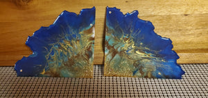 The Egyptian Agate Slice Coasters... Brown, Mint, Gold and Brown