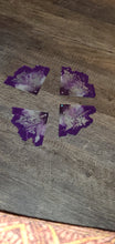 Load image into Gallery viewer, Lions gate... purple, grey and silver Agate Slices crystals