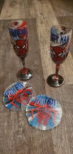 Custom Themed Wine Flutes