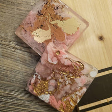 Load image into Gallery viewer, Pre made Coasters... Pink lemonade Coasters