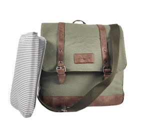 Junior Tribe Co Ultimate Nappy Bag SHOP NAPPY BAGS Khaki Green